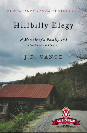 """Cover of """"Hillbilly Elegy"""" by J.D. Vance"""