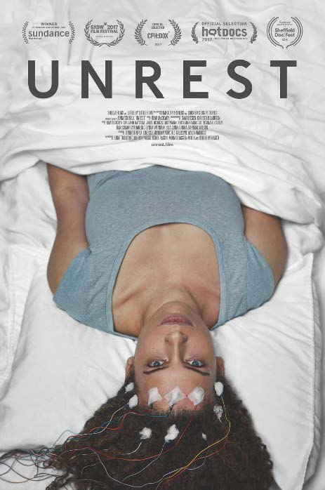Poster advertising the documentary UNREST